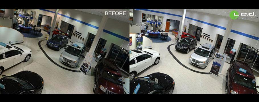 Honda Showroom 452W MH to 100W LED
