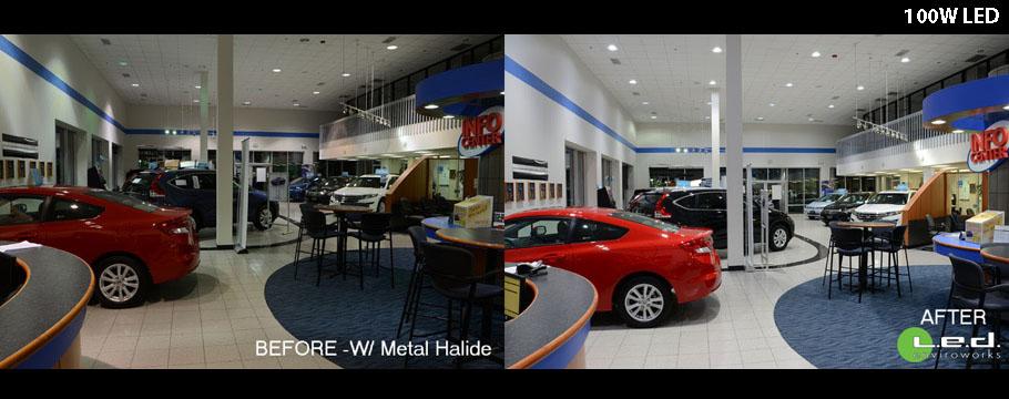 Honda Showroom 452W HID to 100W LED