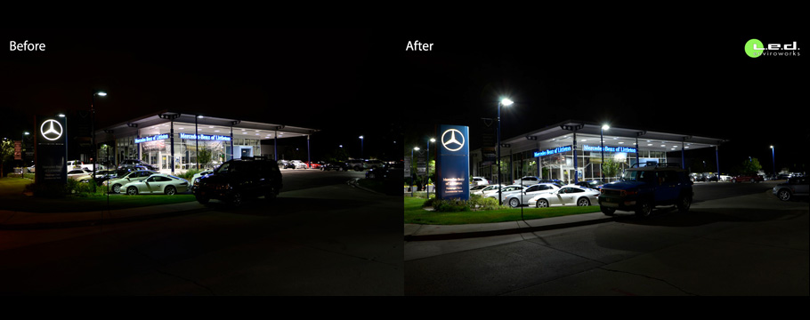 Led enviroworks for Mercedes benz of littleton